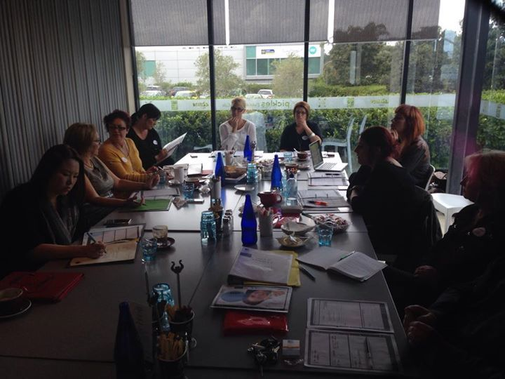 Attendees deep in thought planning for the growth they want in their salons over the next 90 days - At QuarterCLUB 2.