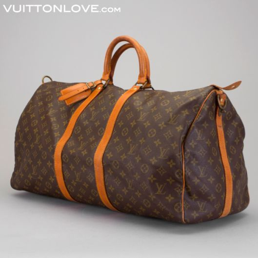 Vintage Louis Vuitton Keepall Weekendbag Weekend Väska Monogram Canvas Vuitton Love