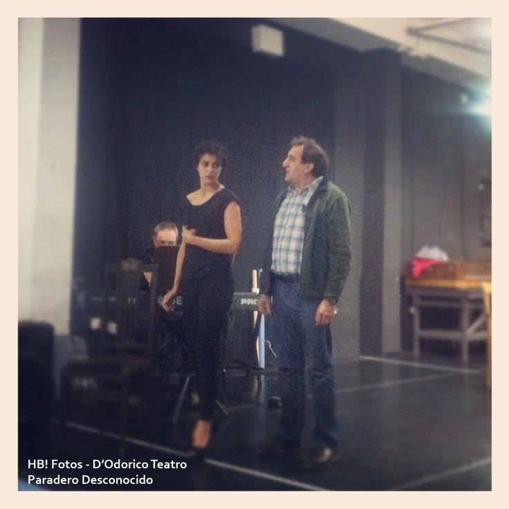 Ensayos. Sara Casasnovas y Juanjo Cucalón. #Teatro #Madrid #ParaderoDesconocido