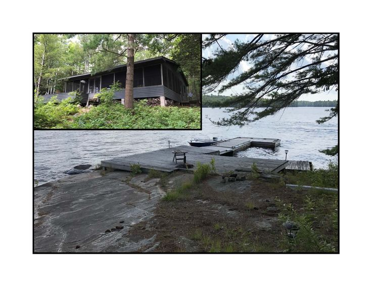 604.17A-Imagine your own 12 acre private island paradise on beautiful Lake Manitouwabing!  A rustic open concept cottage with a stone fireplace, wood floors, big screen porch, large dock area and sleeping cabin.  The cottage has cathedral ceilings, lots of windows for plenty of light from all directions, and beautiful French doors that lead to the screened porch.  3123' of water frontage with a cap rock shoreline, surrounded by mature forest with numerous trails throughout to explore…