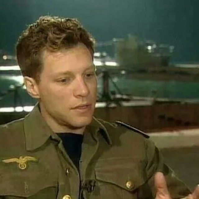"I've never seen this pic of Jon Bon Jovi from ""U-571"" movie (1999). He looks sooo young! @jon_bon_jovi_fan 