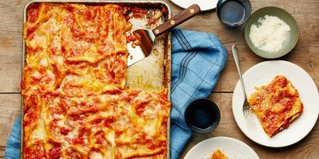 All-Crust Sheet-Pan Lasagna