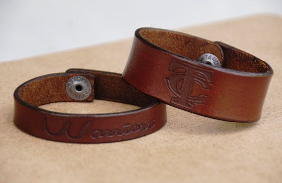 Check out this item in my Etsy shop https://www.etsy.com/listing/244206466/leather-school-spirit-band