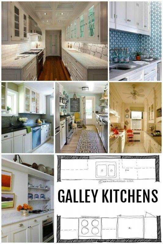 kitchen design galley kitchen layouts via remodelaholic com diy rh pinterest com