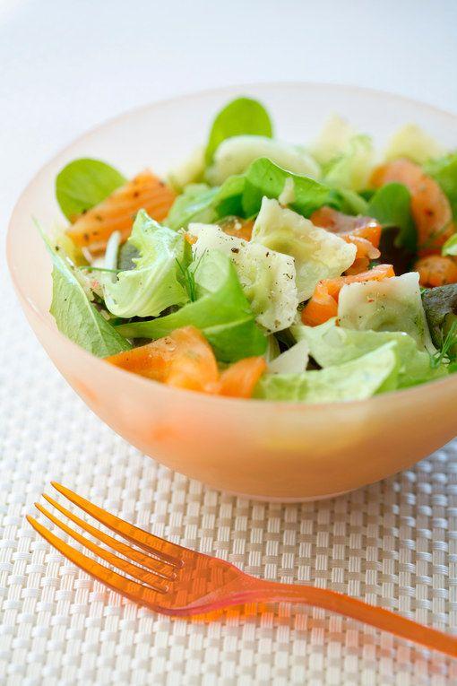 Pensez à utiliser les ravioles de Romans en salade, pour une recette complète