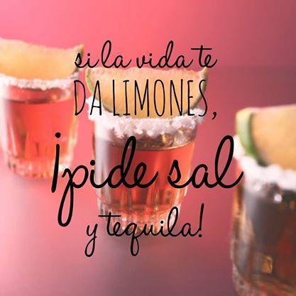¡A disfrutar del viernes! #vida #limones #sal #tequila