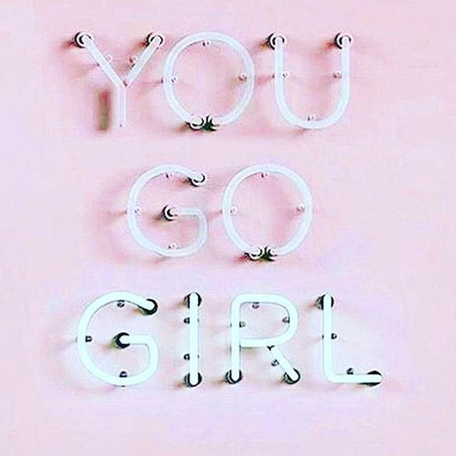 loving this you go girl neon sign light bill boards words quotes sayings. Black Bedroom Furniture Sets. Home Design Ideas