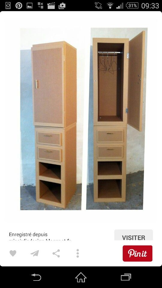 25 unique cardboard wardrobe ideas on pinterest diy doll wardrobe closet diy furniture out. Black Bedroom Furniture Sets. Home Design Ideas
