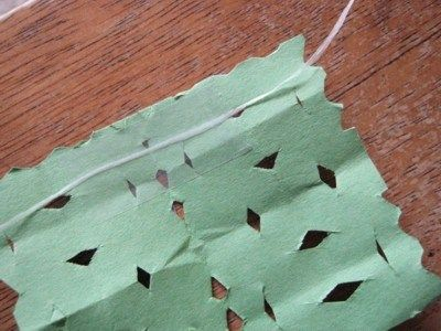 how to make papel picado with construction paper