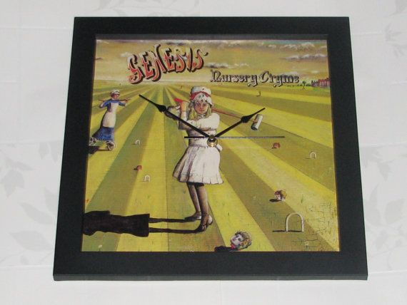 Genesis nursery cryme  Framed album/lp cover clock by cool4clocks