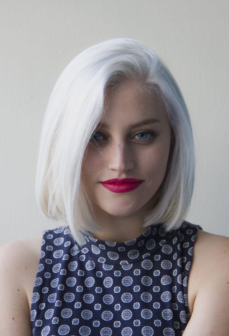 Cheveux blancs secs