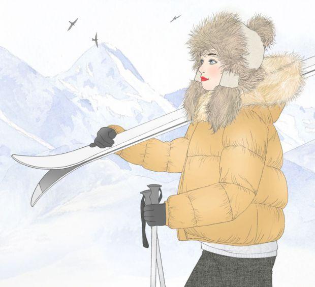 illustration delphine soucail skieuse.jpg - Delphine SOUCAIL | Virginie