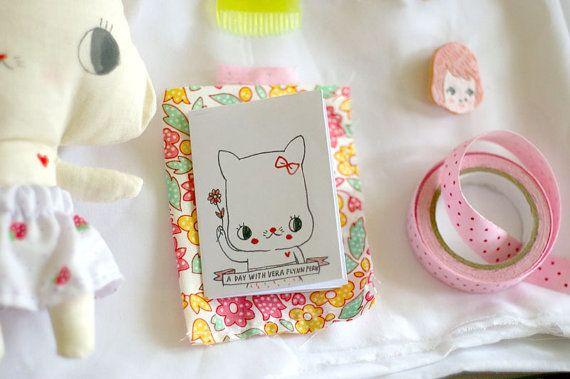 .Tiny Zine, Paper, Tiny Book, Call Vera, Zine Inspiration, Miniatures Book, Pretty Zine, Kittens Call, Plush Toys