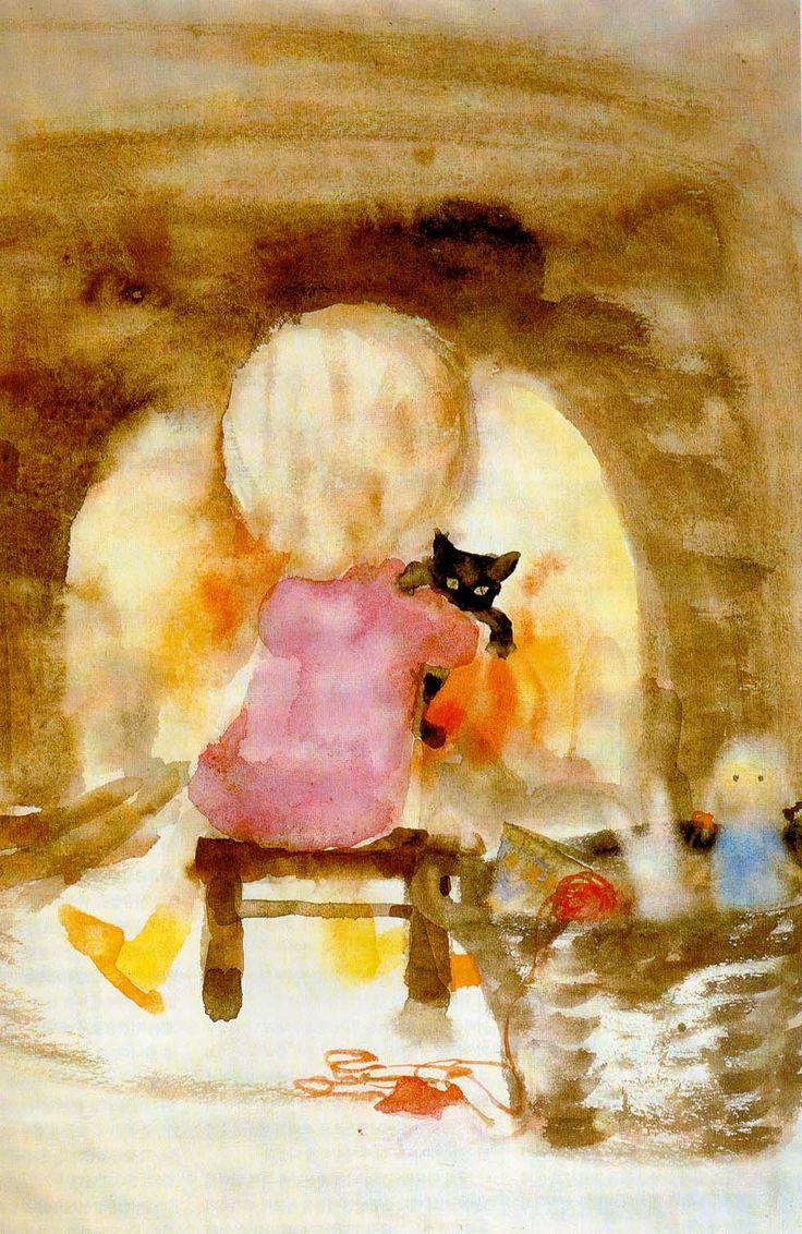 chihiro iwasaki - girl holding a cat