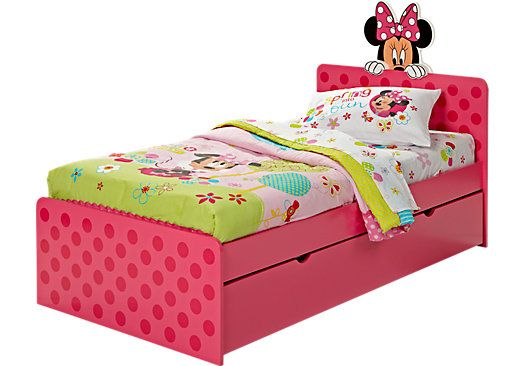 Shop for a minnie mouse 4 pc twin bed w trundle at rooms for Rooms to go kids twin beds