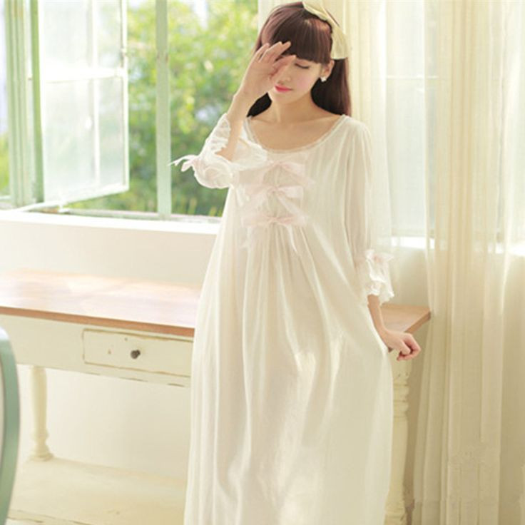 Find More Information about 2016Sleepwear Sexy Cotton Vintage Pijama Princess Nightgown French Royal Style Female Long Nightdress roupao feminino,High Quality sleepwear long,China sleepwear romper Suppliers, Cheap sleepwear pajama from Xiao O store on Aliexpress.com