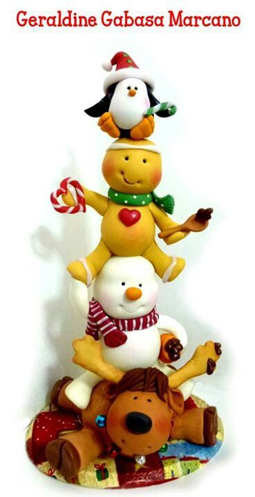 love this for a fun but lavish Christmas cake topper