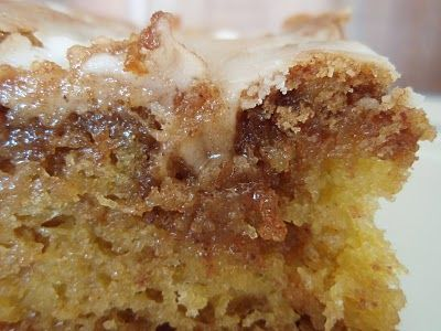 Cinnamon Roll Cake ---Yummy!  Easy coffee cafe recipe that starts from a cake mix.