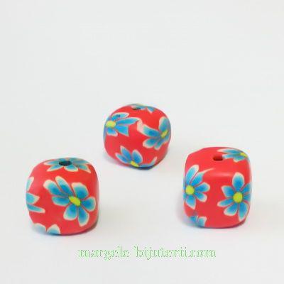 Margele fimo, cubice, 10x10x10mm. Deoarece sunt prelucrate manual, nu sunt identice ca marime si forma.