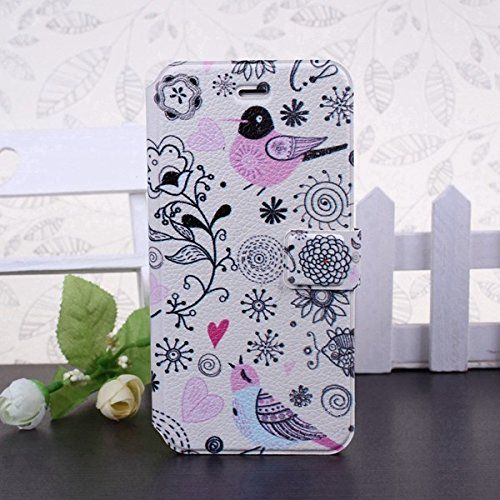 Designer Style iPhone 5/5s/ 6 Floral Rose Blossom Tropical Vintage Flower Pink/Black/Blue Pastel Pink wallet Clutch Case/Cover by iM (iphone 6, bird) MiMi http://www.amazon.co.uk/dp/B00VAKDVV4/ref=cm_sw_r_pi_dp_RGSNvb1WWSV04