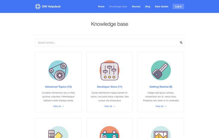 DW Helpdesk - Knowledge Base / Q&A / FAQ WordPress Theme by designwall