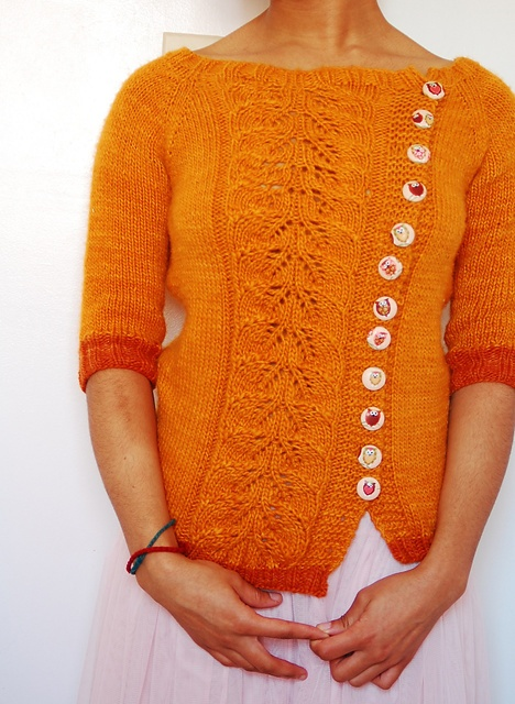 Buttony Sweater by Katie Marcus.