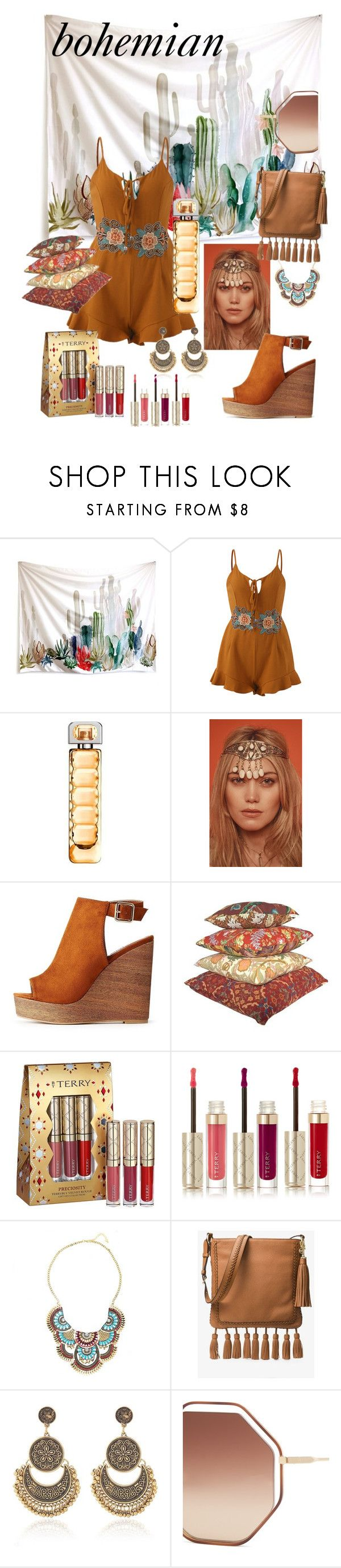 """bohemian style #44"" by azadeh007 ❤ liked on Polyvore featuring BOSS Orange, Rock 'N Rose, Charlotte Russe, By Terry, MICHAEL Michael Kors and Chloé"