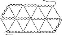 58 best Delta Crochet and Other Triangular Grid Laces