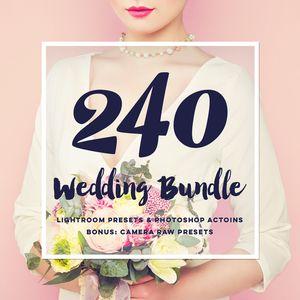 Wedding bundle: lightroom presets, photoshop actions and acr presets (60% off)