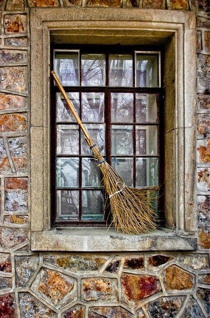 window, love the broom