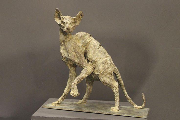 Chat Egyptien Bronze n°7/8 44 x 46 x 25 cm