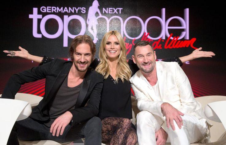 Überraschung! GNTM goesEspaña - Heidi Klum, Thomas Hayo (links) und Michael Michalsky werden die Gewinnerin in Spanien küren.
