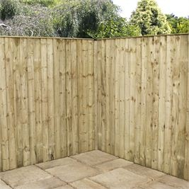 5 x 6 Waltons Pressure Treated Feather Edge Fence Panel