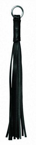 Læder pisk - 29 cm fra XXdreamSToys - Sexlegetøj leveret for blot 29 kr. - 4ushop.dk - Lille pisk fremstillet af læder - har cirka 18 haler. Har metalring i toppen.