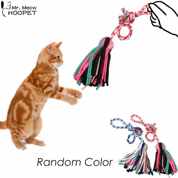 1PC Dogs & Cats Chewing Toy Pet Puppy Kitten Knotted Rope Mop Toy,Teaser-Cat & Kitten Interactive Toy for Pet Biting Training