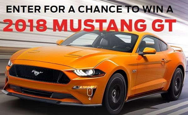Enter for your chance to win 2018 Ford Mustang GT worth $41800. #Sweepstakes #Onetime #Car #Big