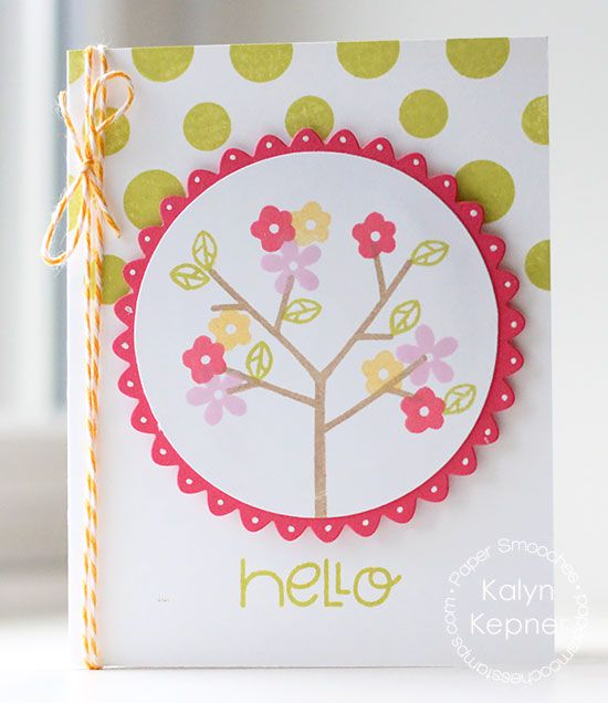 Card by PS DT Kalyn Kepner using PS Gently Seasoned Two, Scalloped Circles dies