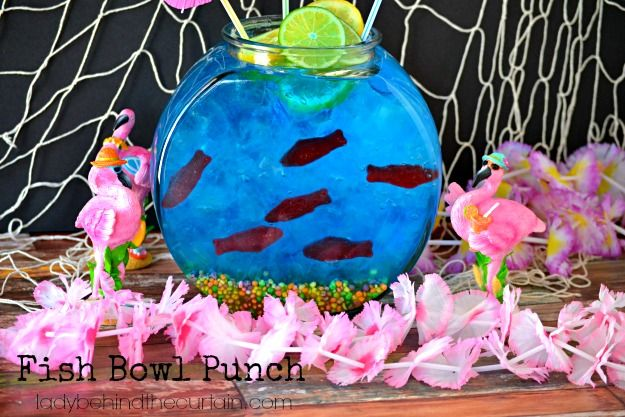 This Fish Bowl Punch is perfect for a pool party, under the sea theme, beach theme or luau! Build your own edible fish bowl! WATCH THIS FUN SLIDE SHOW!
