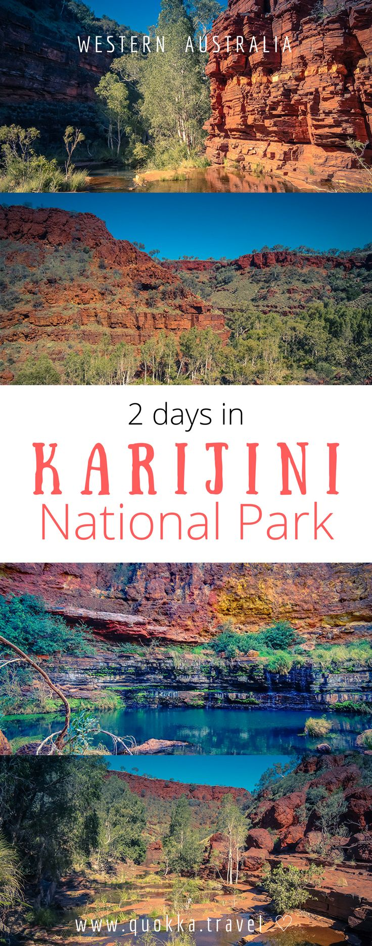 Karijini is Western Australias second largest park and offers many adventurous things to those who love nature. The huge red mountain formations, waterfalls and breathtaking gorges are stunning. It is fair to say that Karijini has been one of the most beautiful destinations I have been to in Australia. In this post we share why should you visit Karijini in Western Australia, including what to do in two days. We also share all about hiking and hiking trail in Karijini National Park...