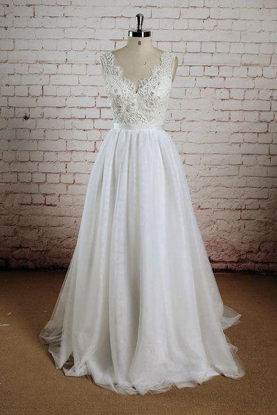 Sheath Lace and Chiffon Wedding Dress 0027