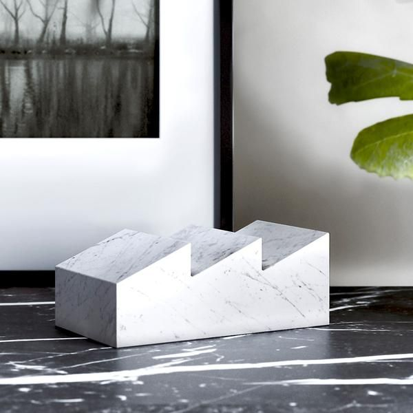 Designed by Silvain Willenz for Retegui Marble, Fabrika is a small, ultra-modern sculpture made from a solid piece of marble. Available in two sizes, and five varieties of marble