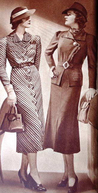 Sears Roebuck & Co. Fall & Winter 1937/1938. #Modest doesn't mean frumpy. #fashion #style www.ColleenHammond.com