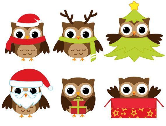owls christmas clip art