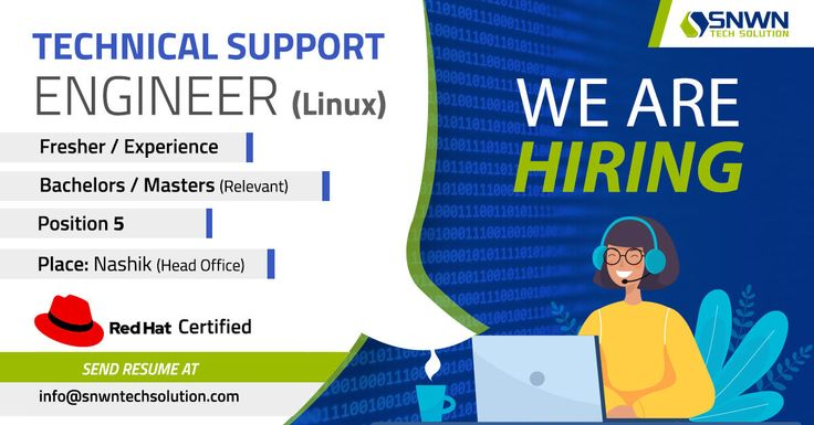 We are hiring snwn tech solution a well known