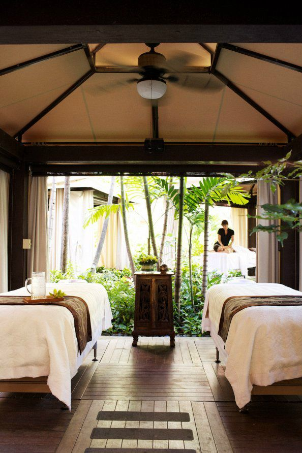 Massage tables for couples with a perfect view!  www.massagestore.com
