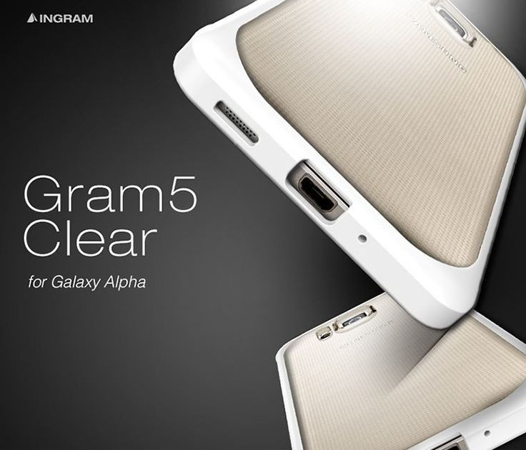 INGRAM GRAM5 TRANSPARENT BUMPER CASE WITH CLEAR BACK FOR GALAXY ALPHA