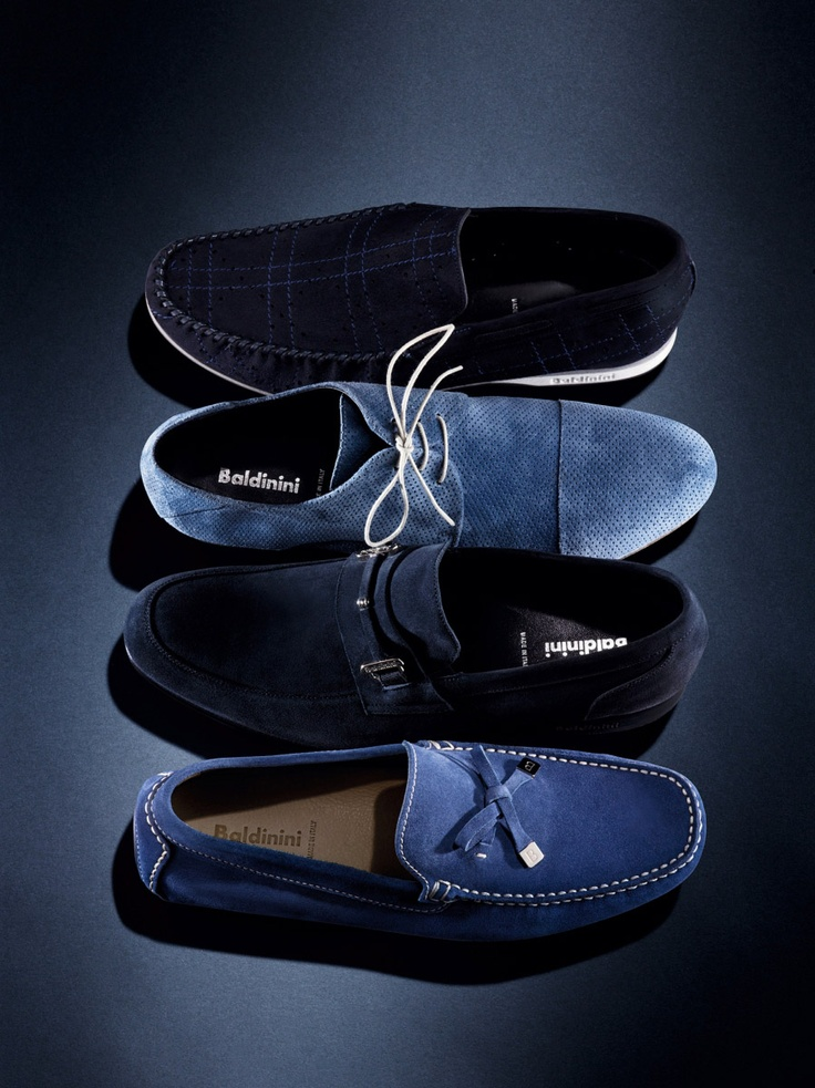 Blue Suede Shoes set up. Look how good they go together.  Suede with different execution and shade in one color tone can add premium value and subtle rebellious sense.