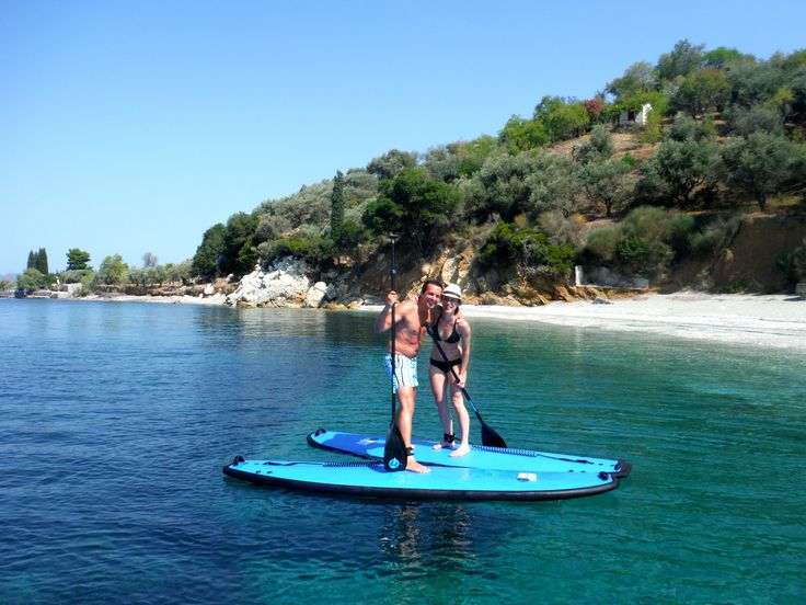 We try to make our tours as much fun as possible, these two certainly had a great time! #SUP #skopelos #greekislands