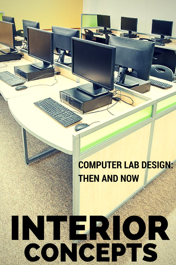 Computer Lab Design: Then and Now. Read more: http://www.interiorconcepts.com/computer-lab-design-then-and-now/