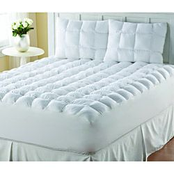 Supreme Loft Cloud Down-alternative White Cotton Mattress Pad - Overstock™ Shopping - Great Deals on Mattress Pads